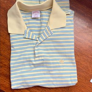 Yellow and blue striped polo. Brooks brothers